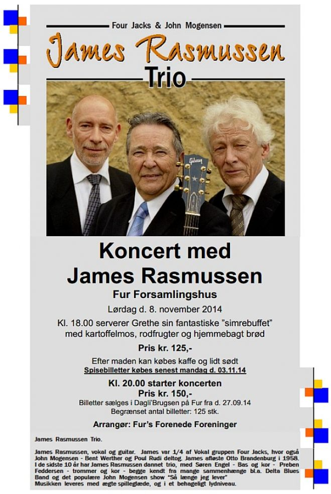 James Rasmussen Trio spiller på Fur